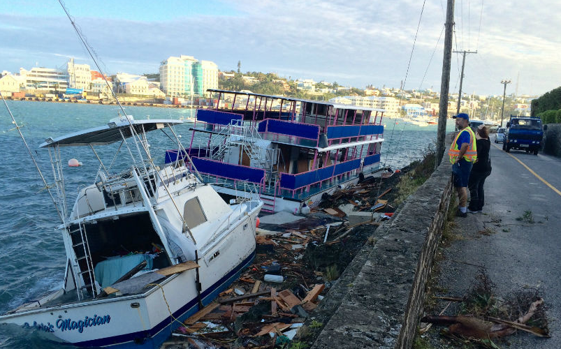 Bermuda Cleans Up After Hurricane Gonzalo